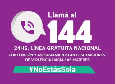 Línea 144 - Atención a mujeres en situación de violencia